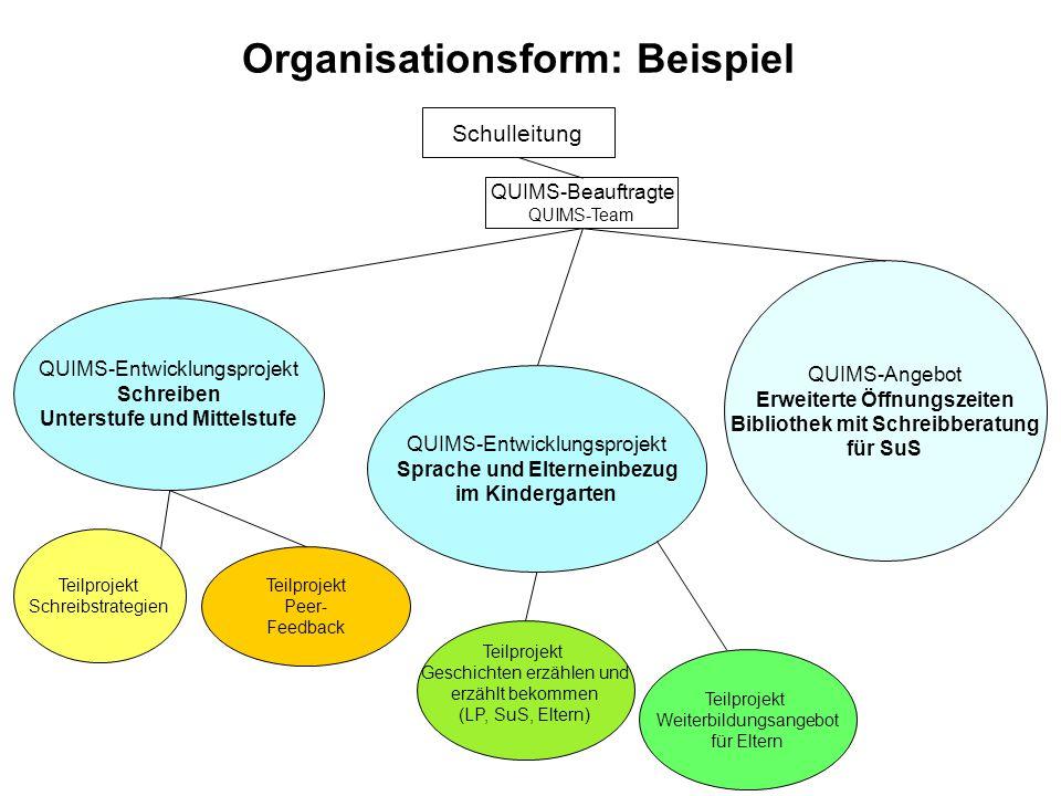 Organisationsform: Beispiel