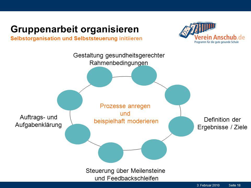 Gruppenarbeit organisieren Selbstorganisation und Selbststeuerung initiieren