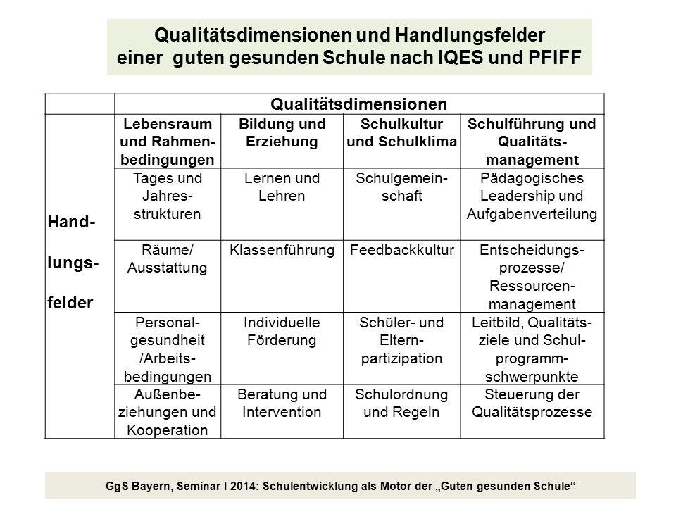 Qualitätsdimensionen und Handlungsfelder