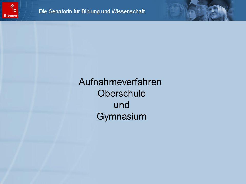 Aufnahmeverfahren Oberschule und Gymnasium