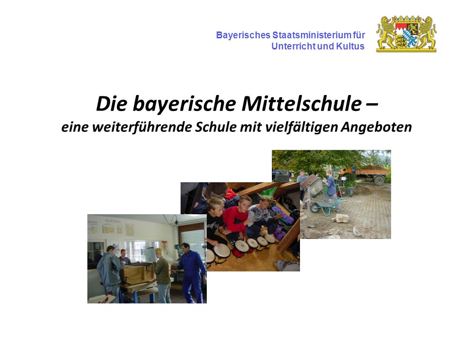Die bayerische Mittelschule – eine weiterführende Schule mit vielfältigen Angeboten