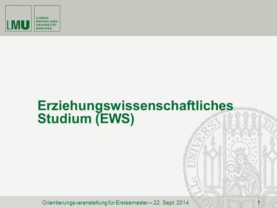 Erziehungswissenschaftliches Studium (EWS)