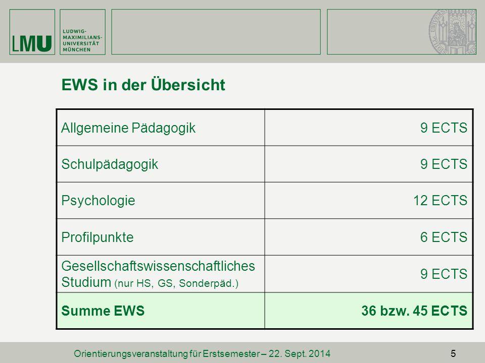 Orientierungsveranstaltung für Erstsemester – 22. Sept. 2014