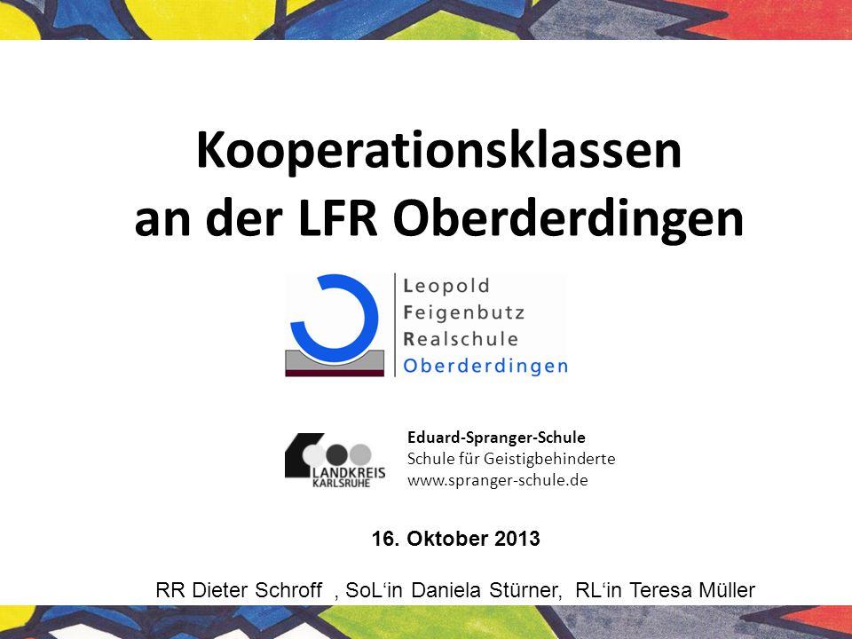 Kooperationsklassen an der LFR Oberderdingen