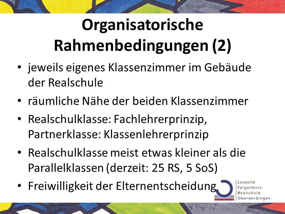 Organisatorische Rahmenbedingungen (2)