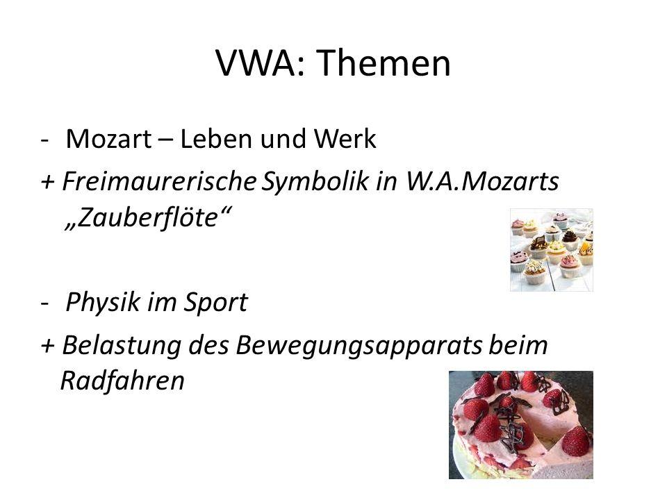VWA: Themen Mozart – Leben und Werk