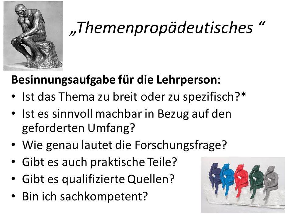 """Themenpropädeutisches"