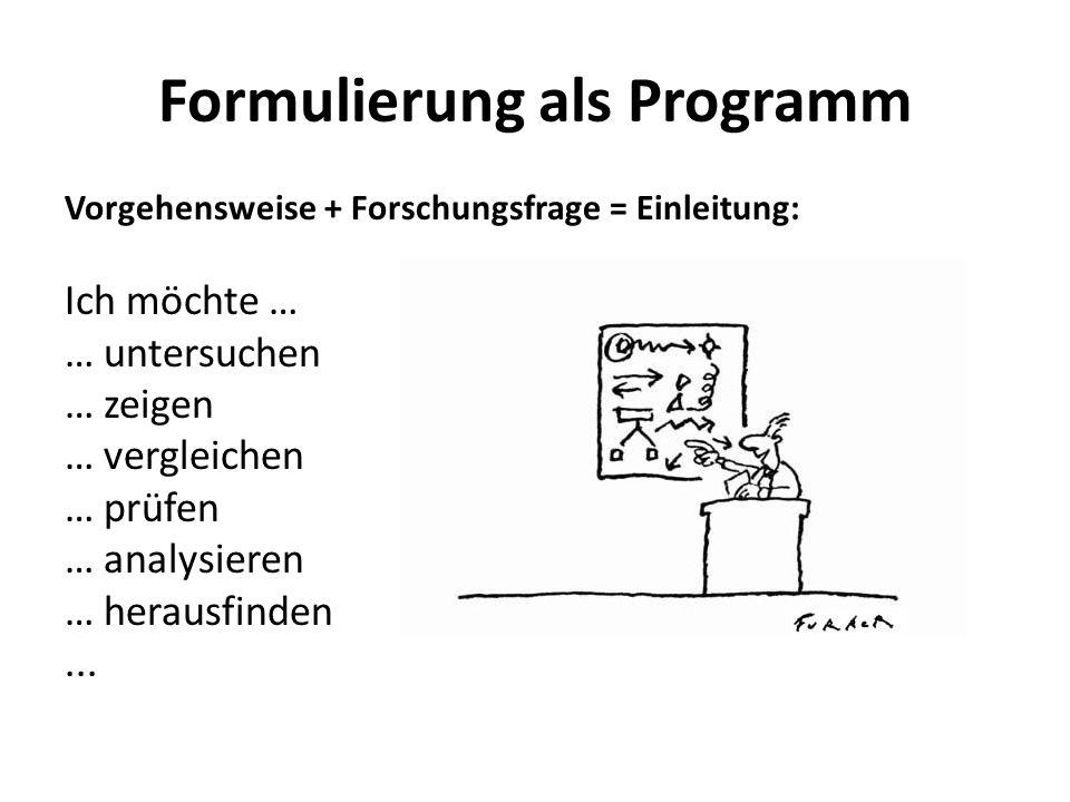 Formulierung als Programm