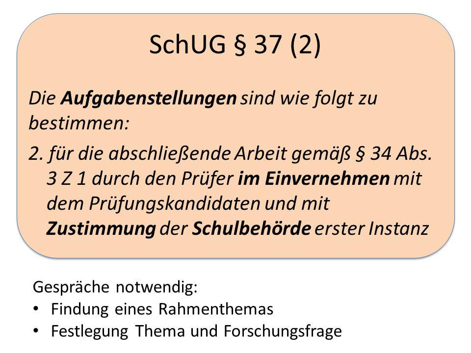SchUG § 37 (2)