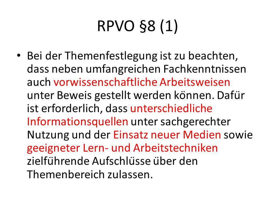 RPVO §8 (1)