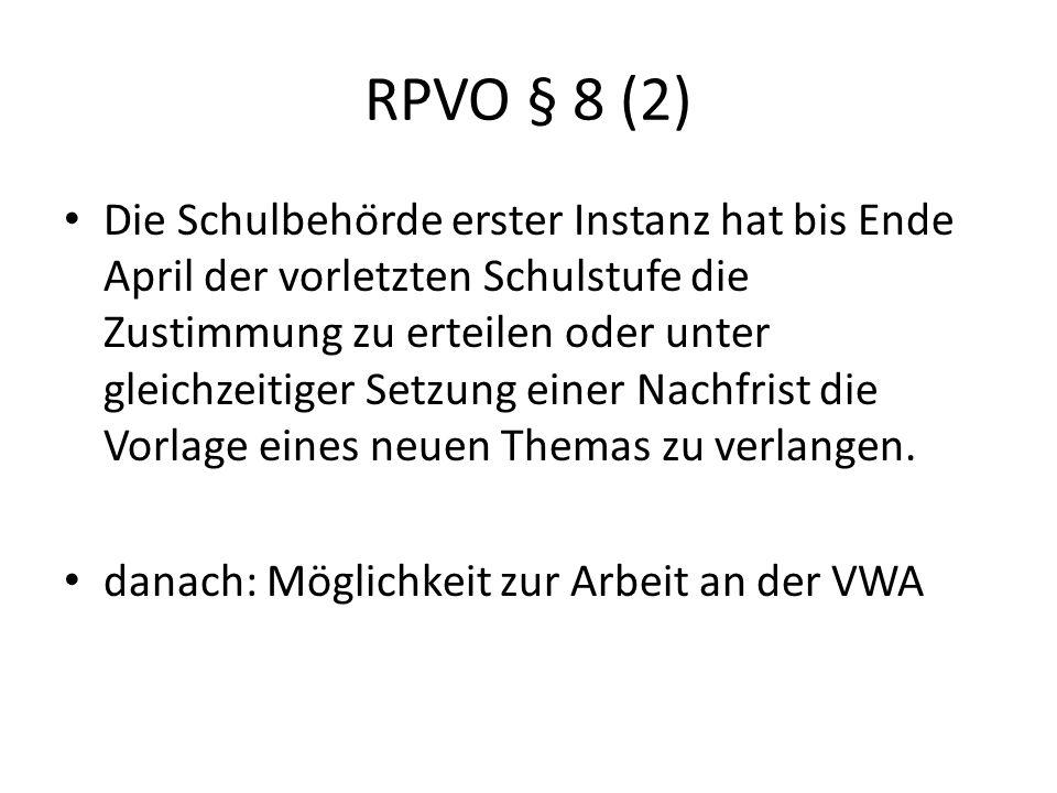 RPVO § 8 (2)