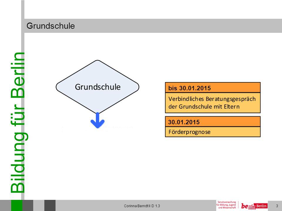 Grundschule bis 30.01.2015 30.01.2015 Corinna Berndt II D 1.3