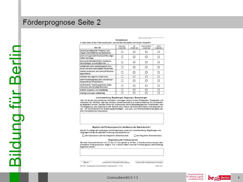 Förderprognose Seite 2 Corinna Berndt II D 1.3