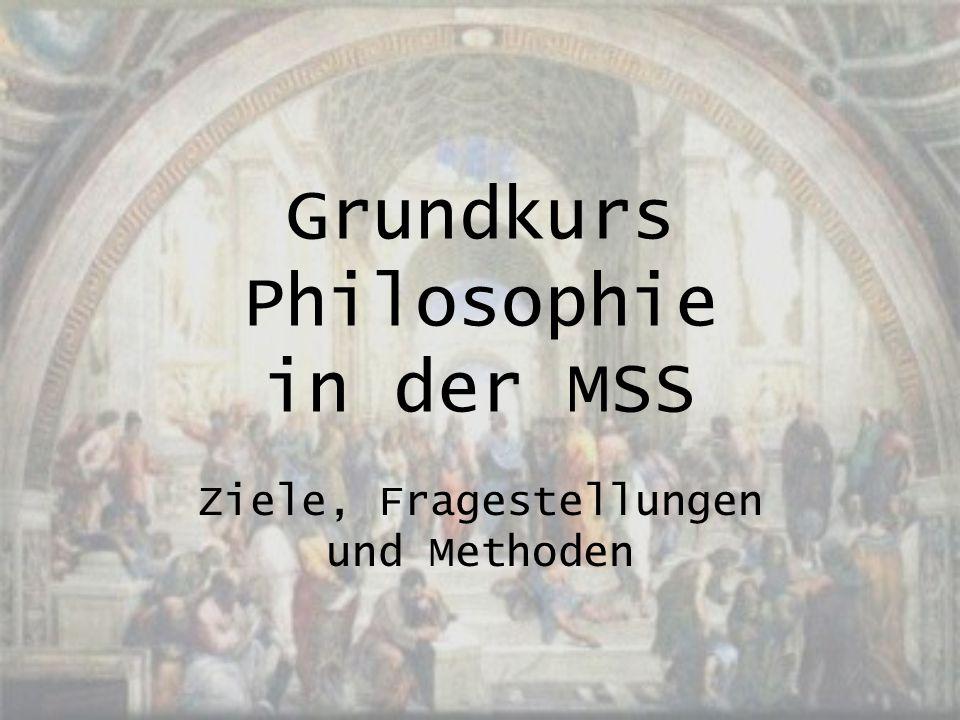 Grundkurs Philosophie in der MSS