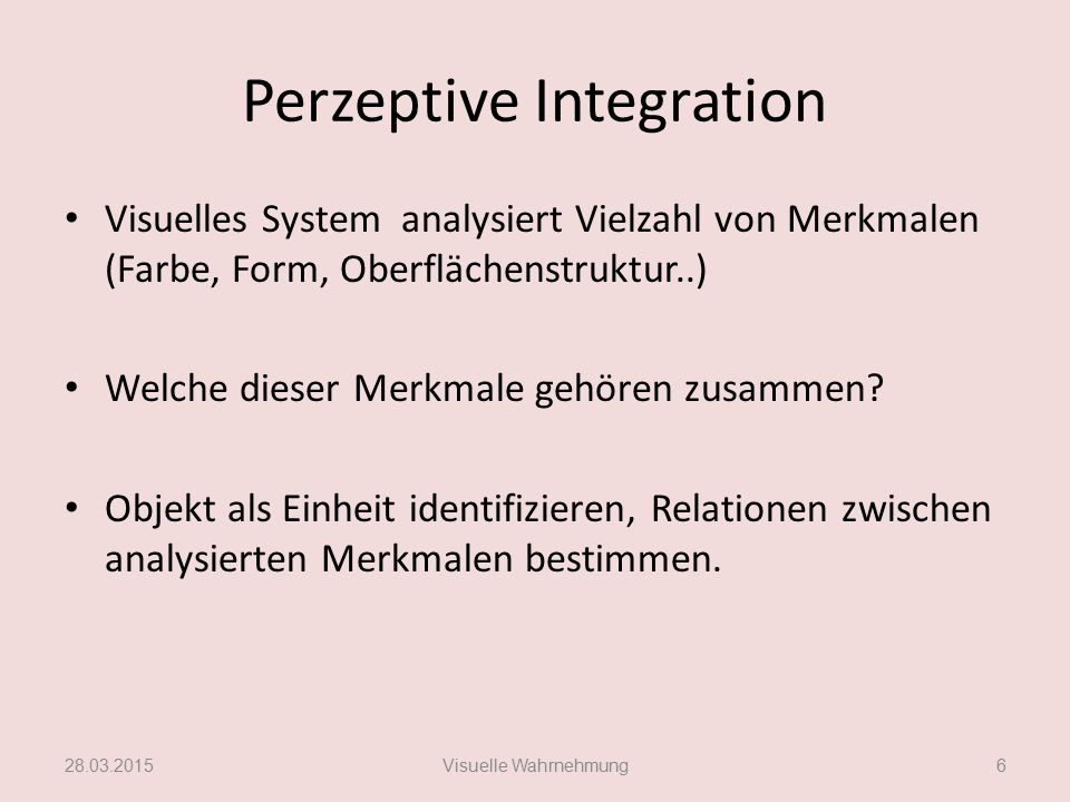 Perzeptive Integration