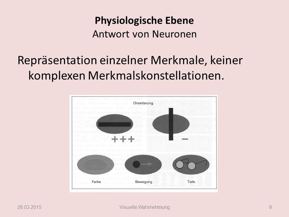 Physiologische Ebene Antwort von Neuronen