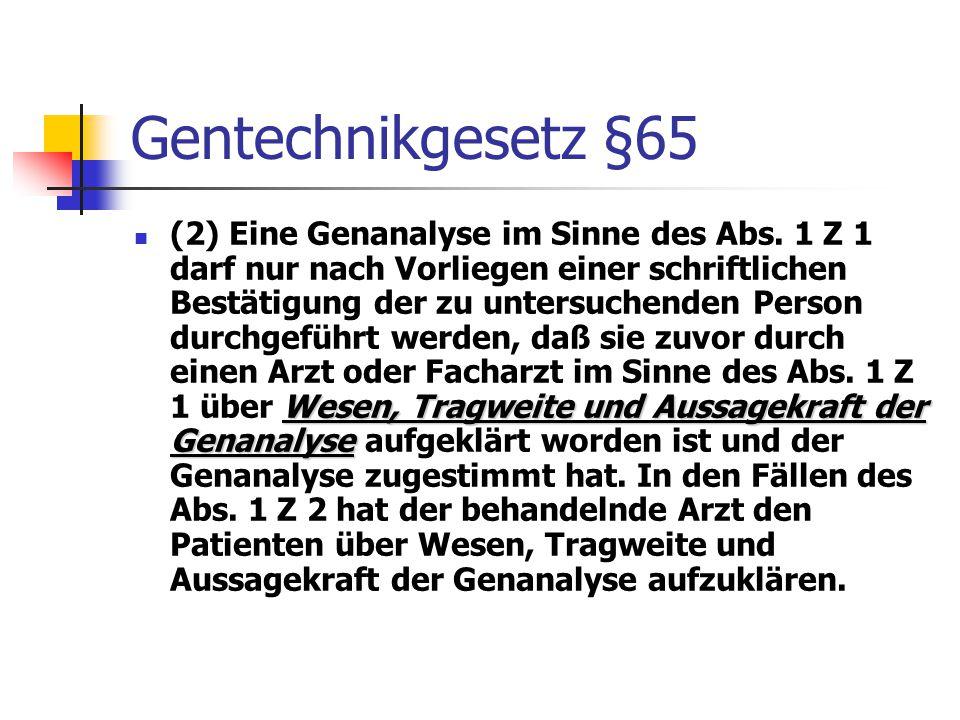 Gentechnikgesetz §65