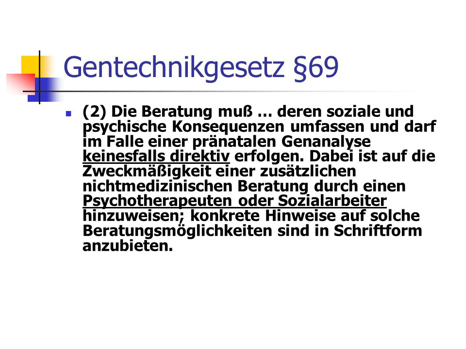 Gentechnikgesetz §69