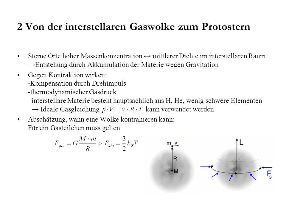 2 Von der interstellaren Gaswolke zum Protostern