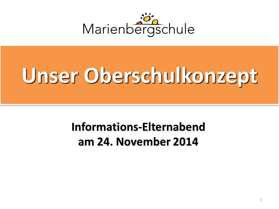 Informations-Elternabend am 24. November 2014