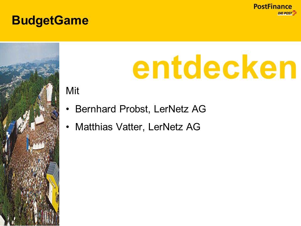 entdecken BudgetGame Mit Bernhard Probst, LerNetz AG