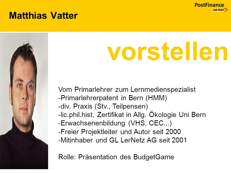 vorstellen Matthias Vatter Vom Primarlehrer zum Lernmedienspezialist