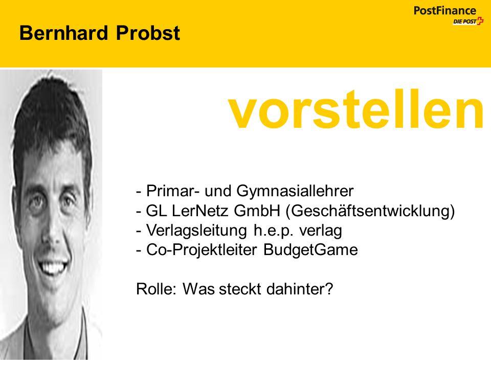 vorstellen Bernhard Probst Primar- und Gymnasiallehrer
