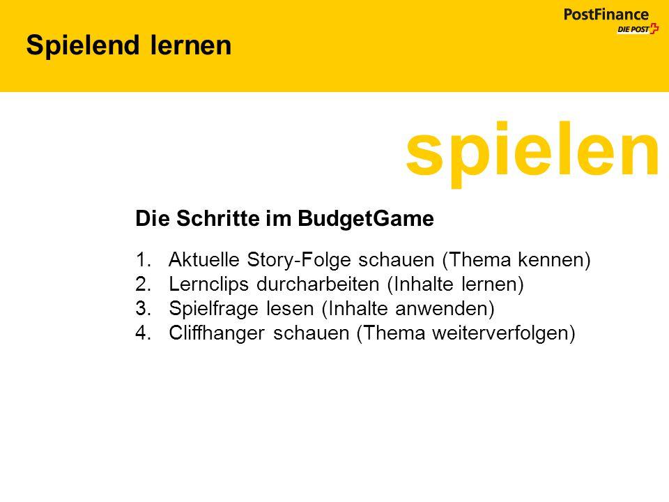 spielen Spielend lernen Die Schritte im BudgetGame