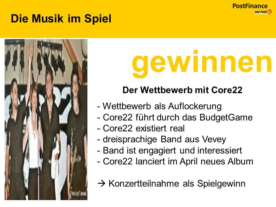 gewinnen Die Musik im Spiel Der Wettbewerb mit Core22