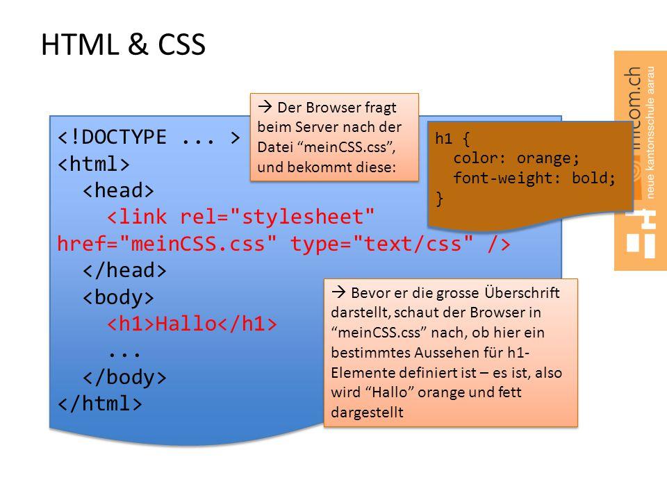 HTML & CSS <!DOCTYPE ... > <html> <head>