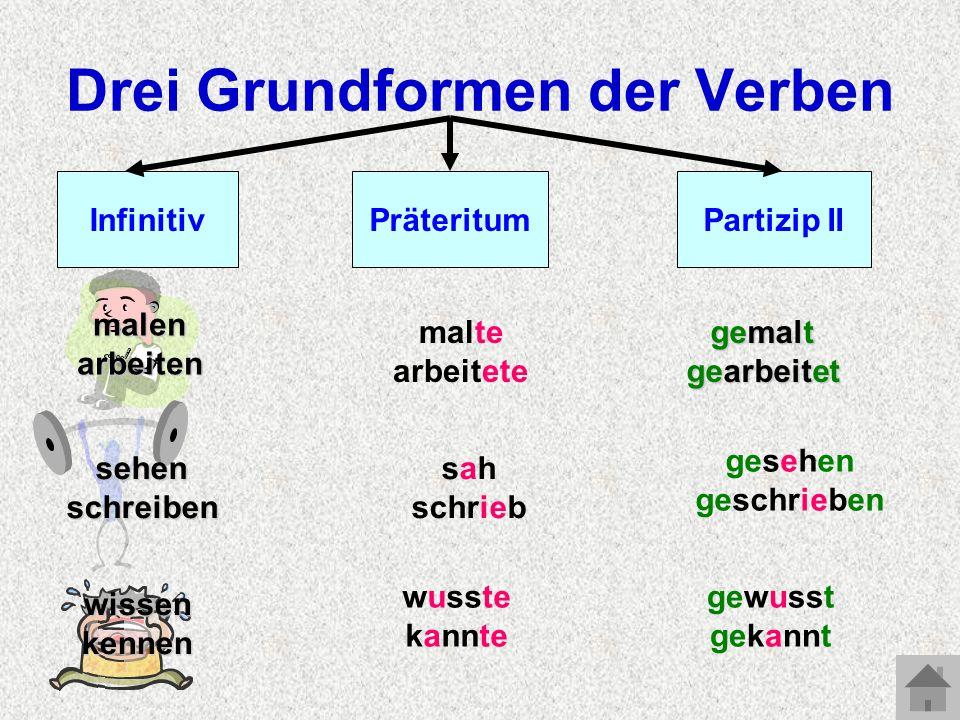 Drei Grundformen der Verben