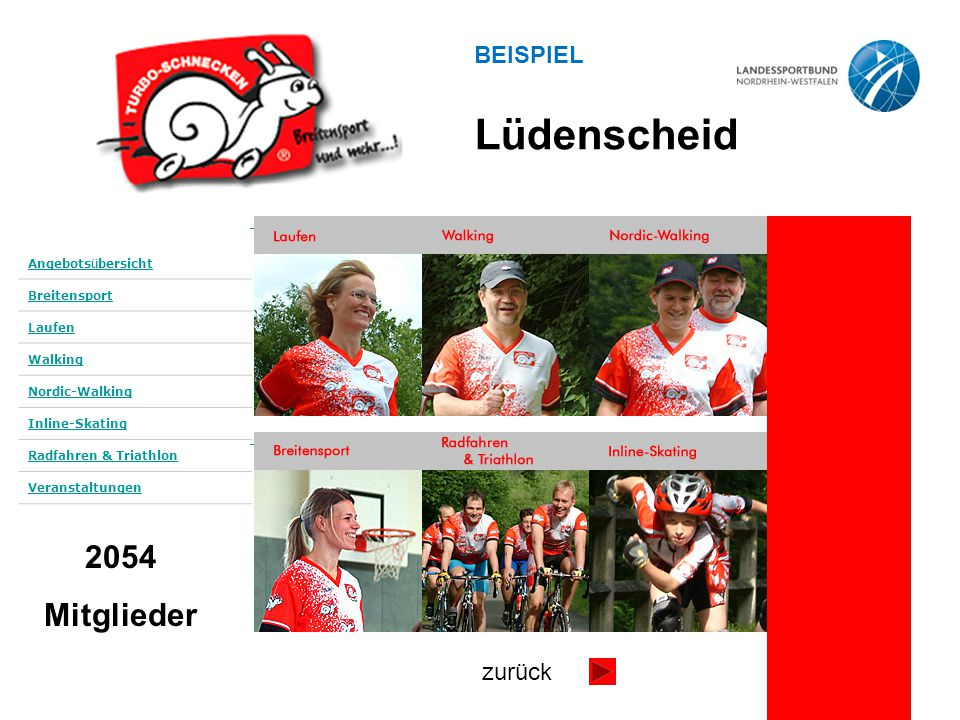 Lüdenscheid 2054 Mitglieder BEISPIEL zurück Angebotsübersicht
