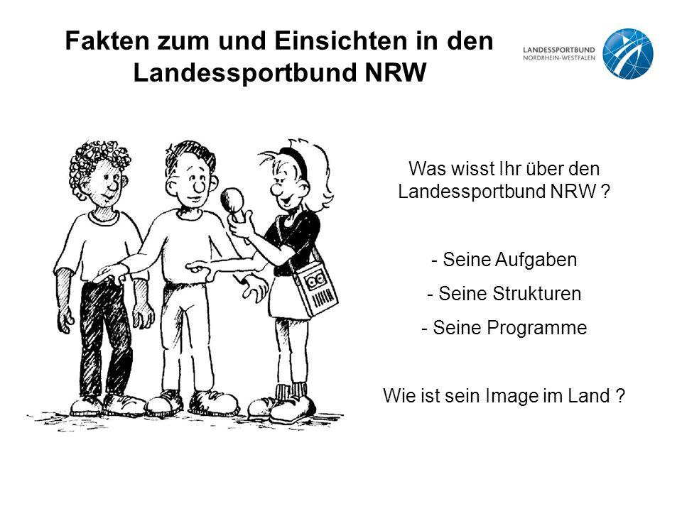 Fakten zum und Einsichten in den Landessportbund NRW