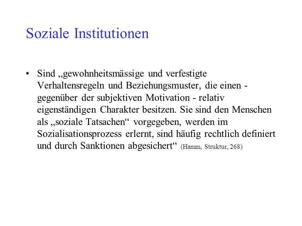 Soziale Institutionen