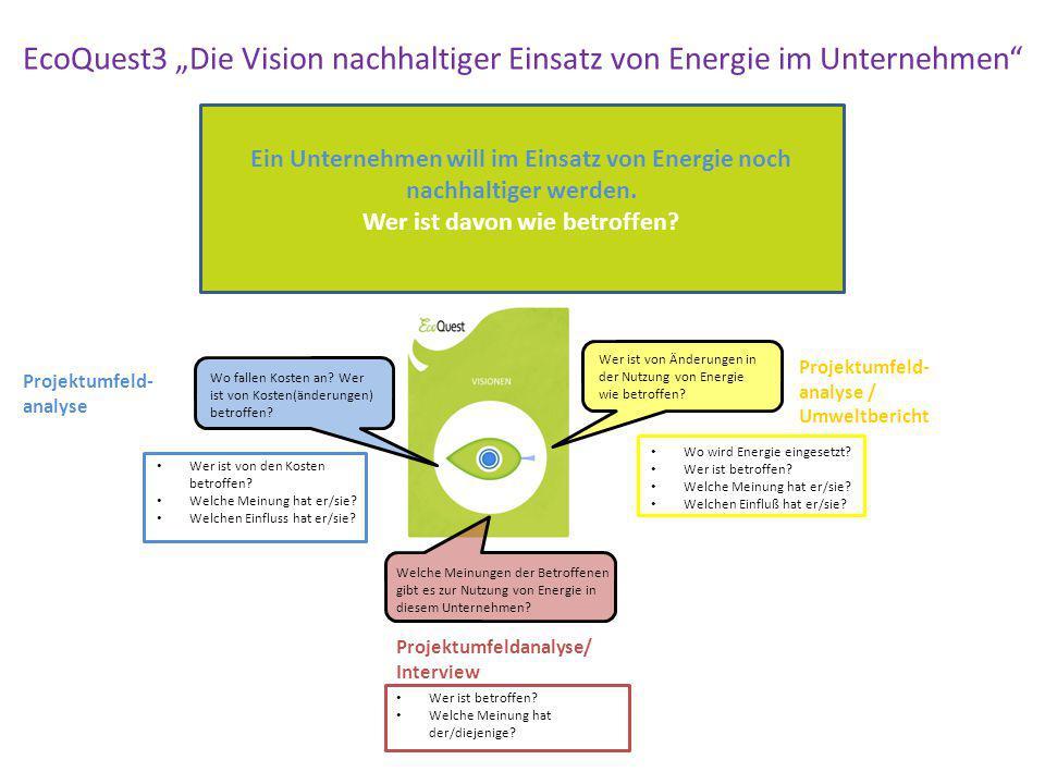 """EcoQuest3 """"Die Vision nachhaltiger Einsatz von Energie im Unternehmen"""