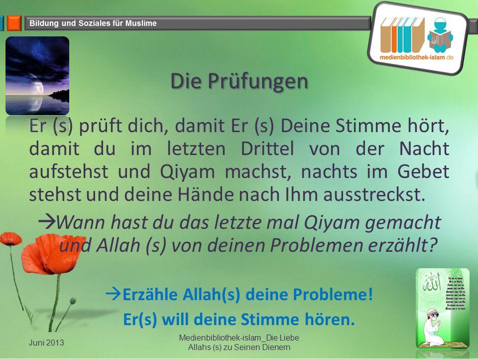 Erzähle Allah(s) deine Probleme! Er(s) will deine Stimme hören.