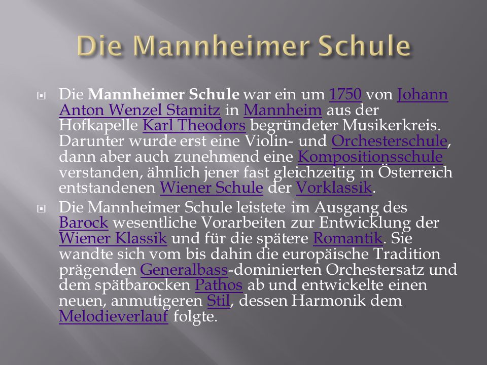 Die Mannheimer Schule