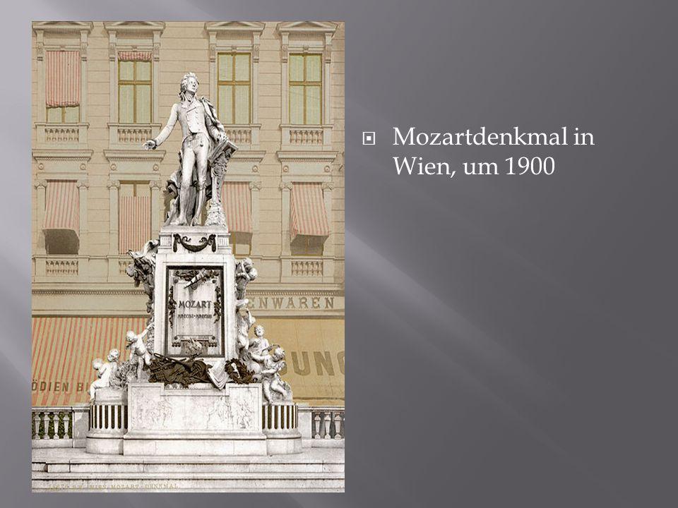 Mozartdenkmal in Wien, um 1900