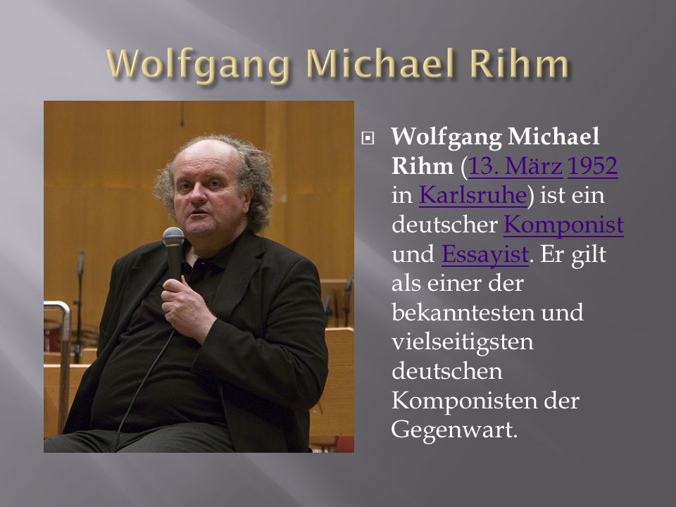Wolfgang Michael Rihm