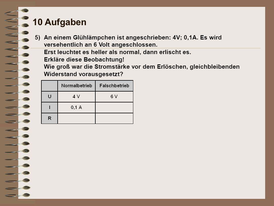 10 Aufgaben 5)