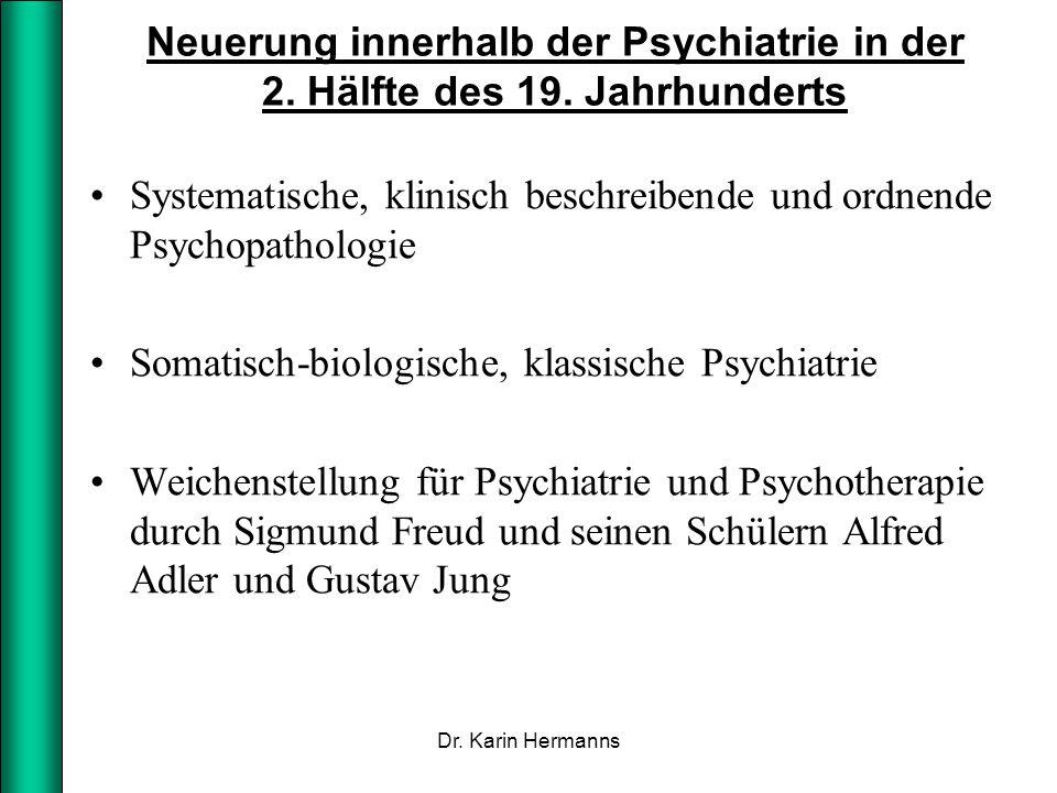 Systematische, klinisch beschreibende und ordnende Psychopathologie