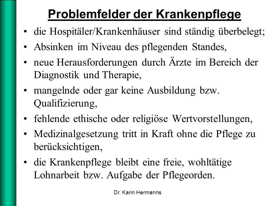 Problemfelder der Krankenpflege