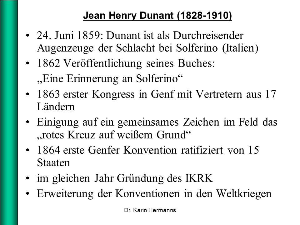 """1862 Veröffentlichung seines Buches: """"Eine Erinnerung an Solferino"""