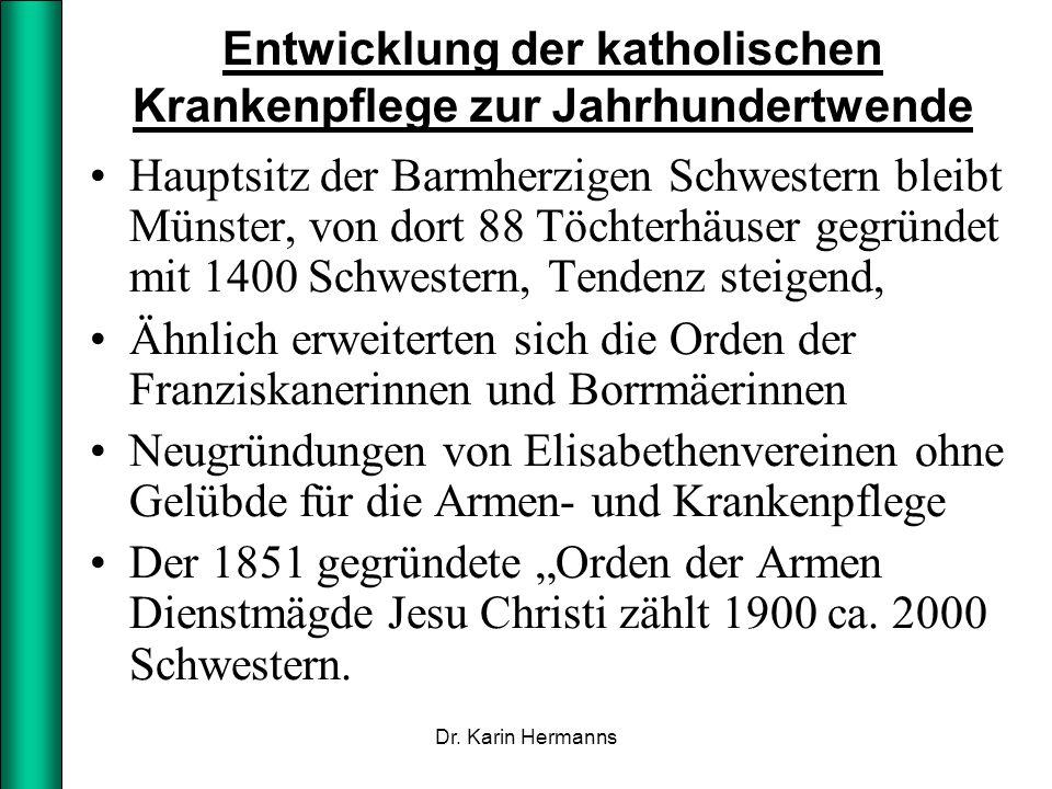 Entwicklung der katholischen Krankenpflege zur Jahrhundertwende