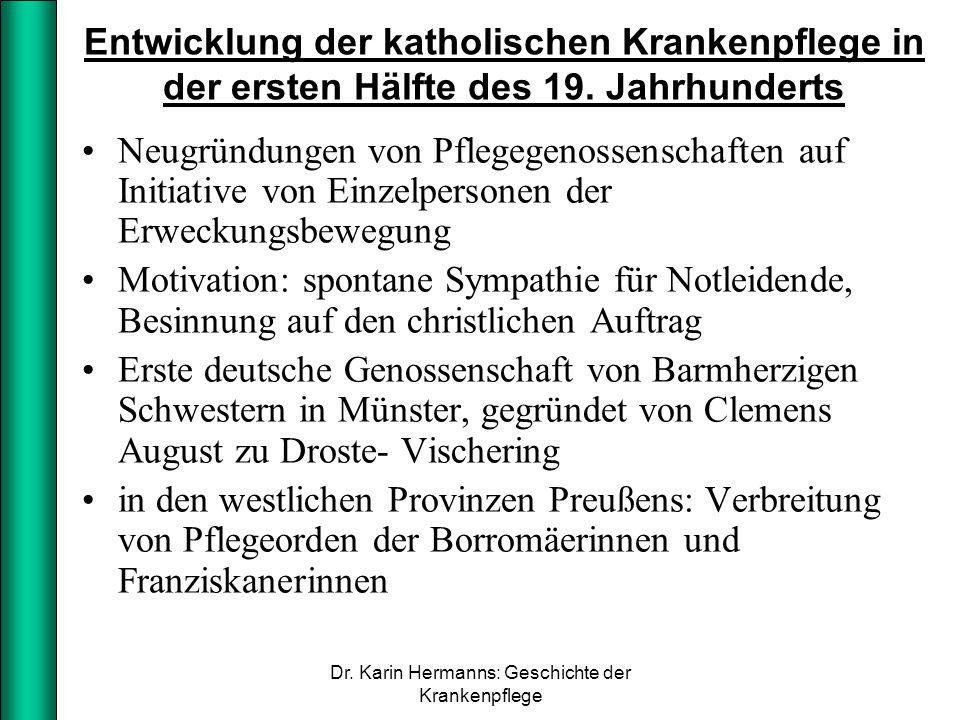 Dr. Karin Hermanns: Geschichte der Krankenpflege