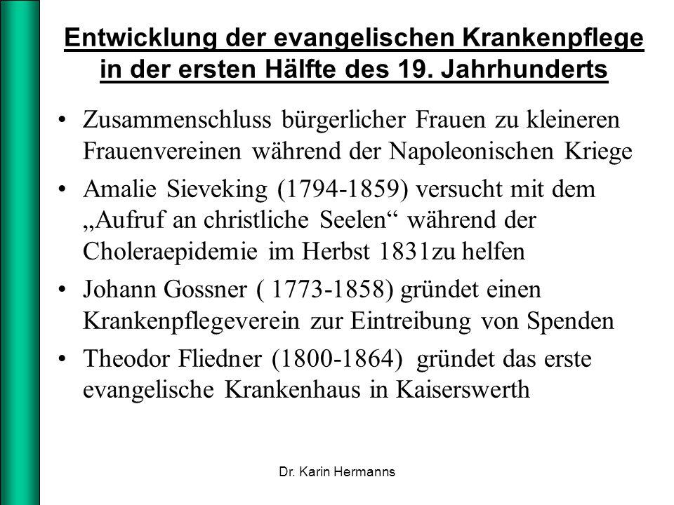 Entwicklung der evangelischen Krankenpflege in der ersten Hälfte des 19. Jahrhunderts