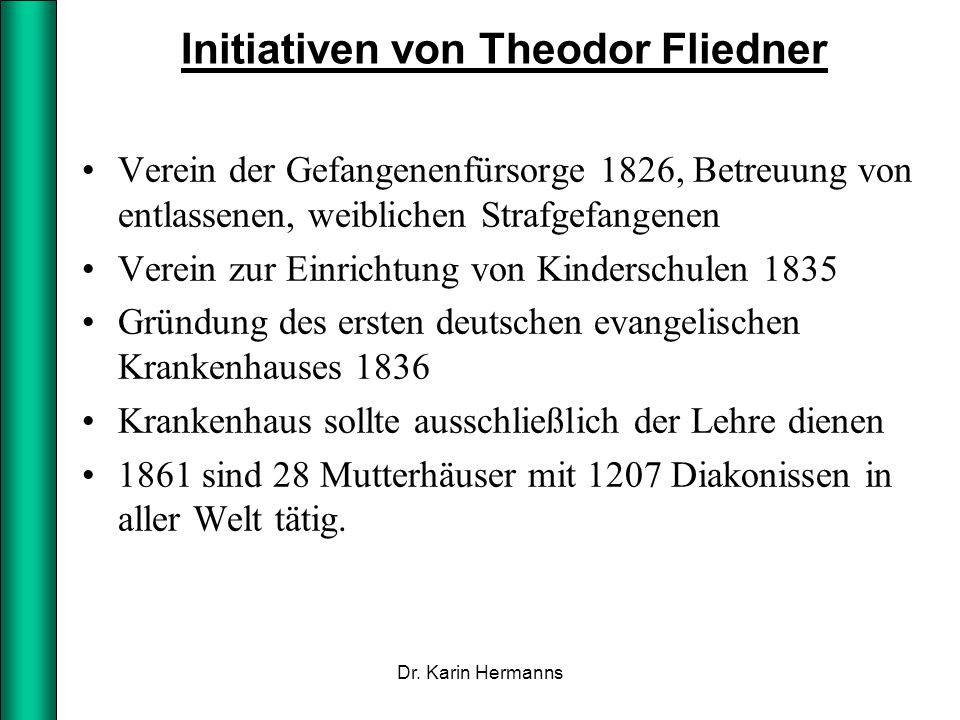 Initiativen von Theodor Fliedner
