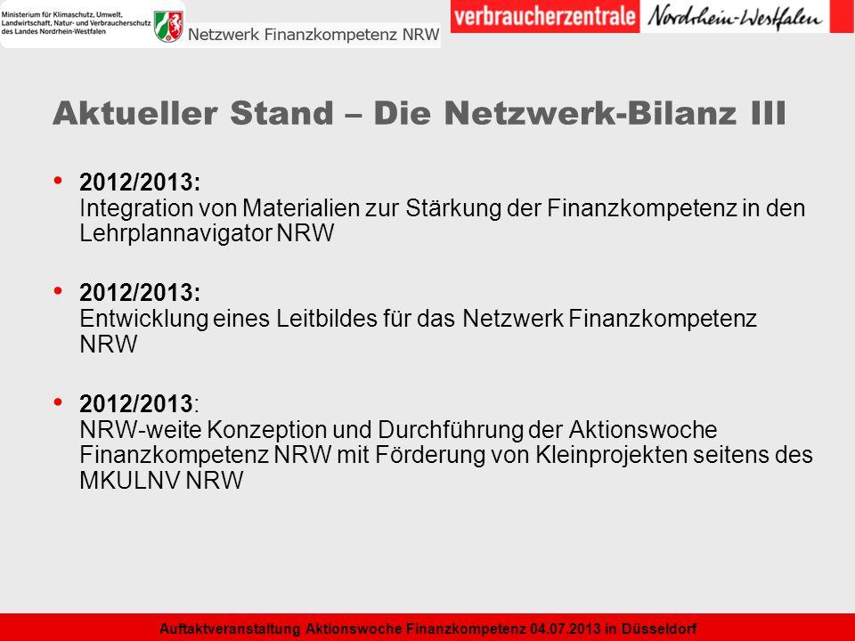Aktueller Stand – Die Netzwerk-Bilanz III