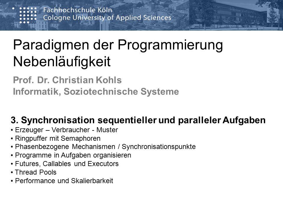 Paradigmen der Programmierung Nebenläufigkeit