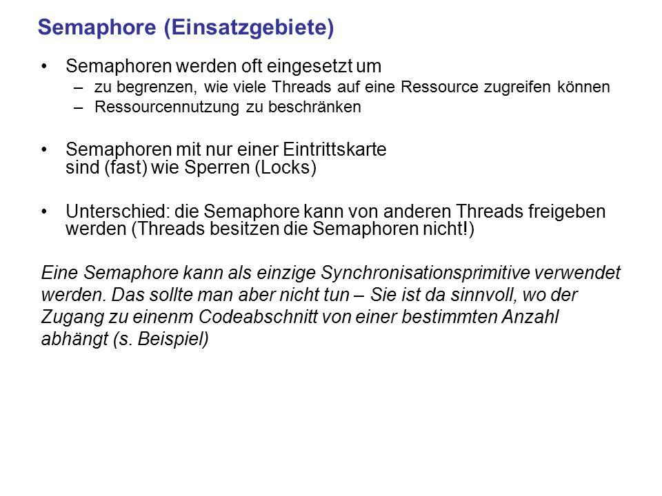 Semaphore (Einsatzgebiete)